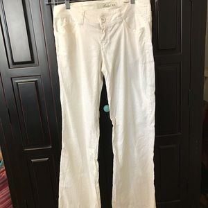 Level 99 white pants, fitted wide leg size 28
